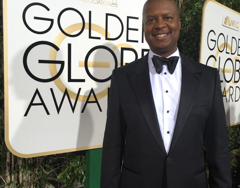 Michael at The Golden Globes